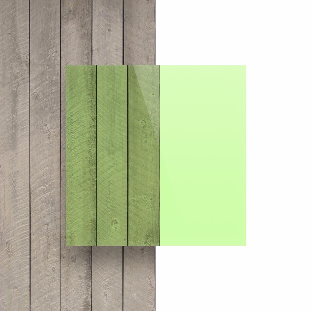 Devant Plexiglass fluorescent vert