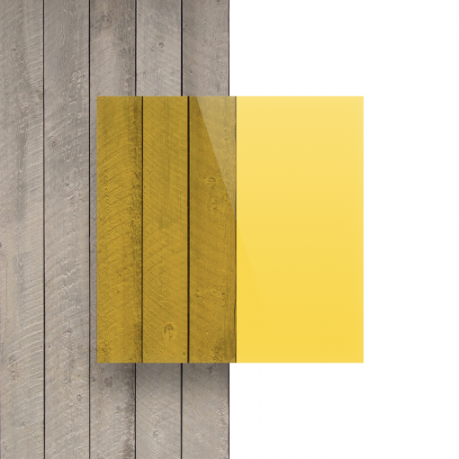 Devant Plexiglass teinte jaune