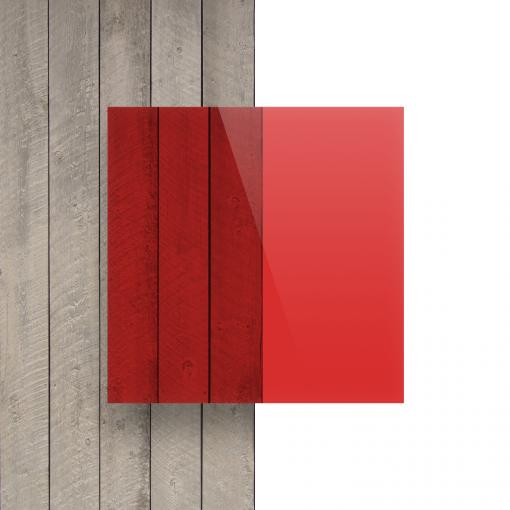 Devant Plexiglass teinte rouge