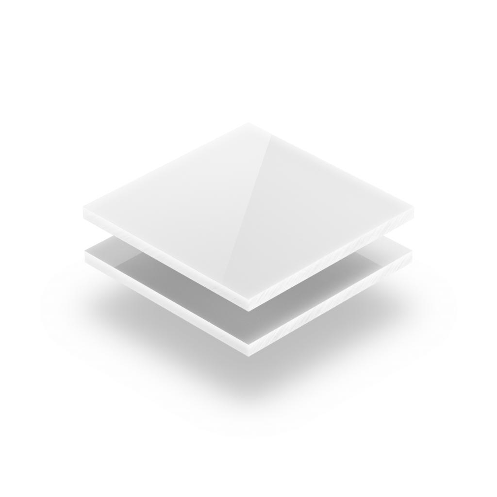 Plaque plexiglass blanc opaque extrudé