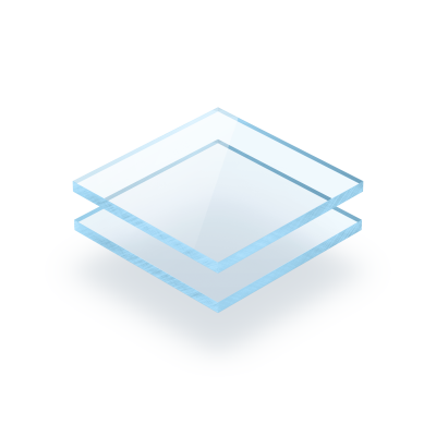 Plaque plexiglass bleu fluorescent