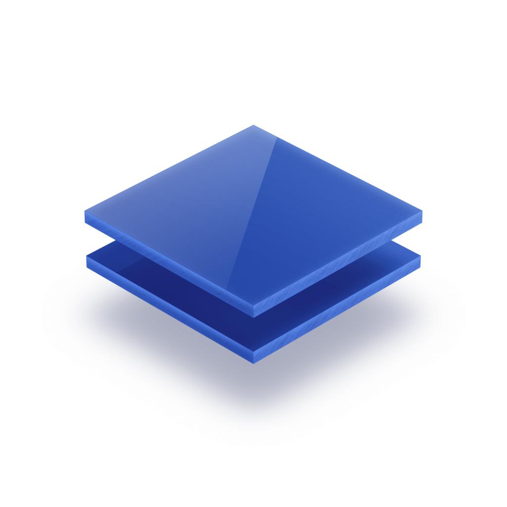 Plaque plexiglass bleu opale 3mm