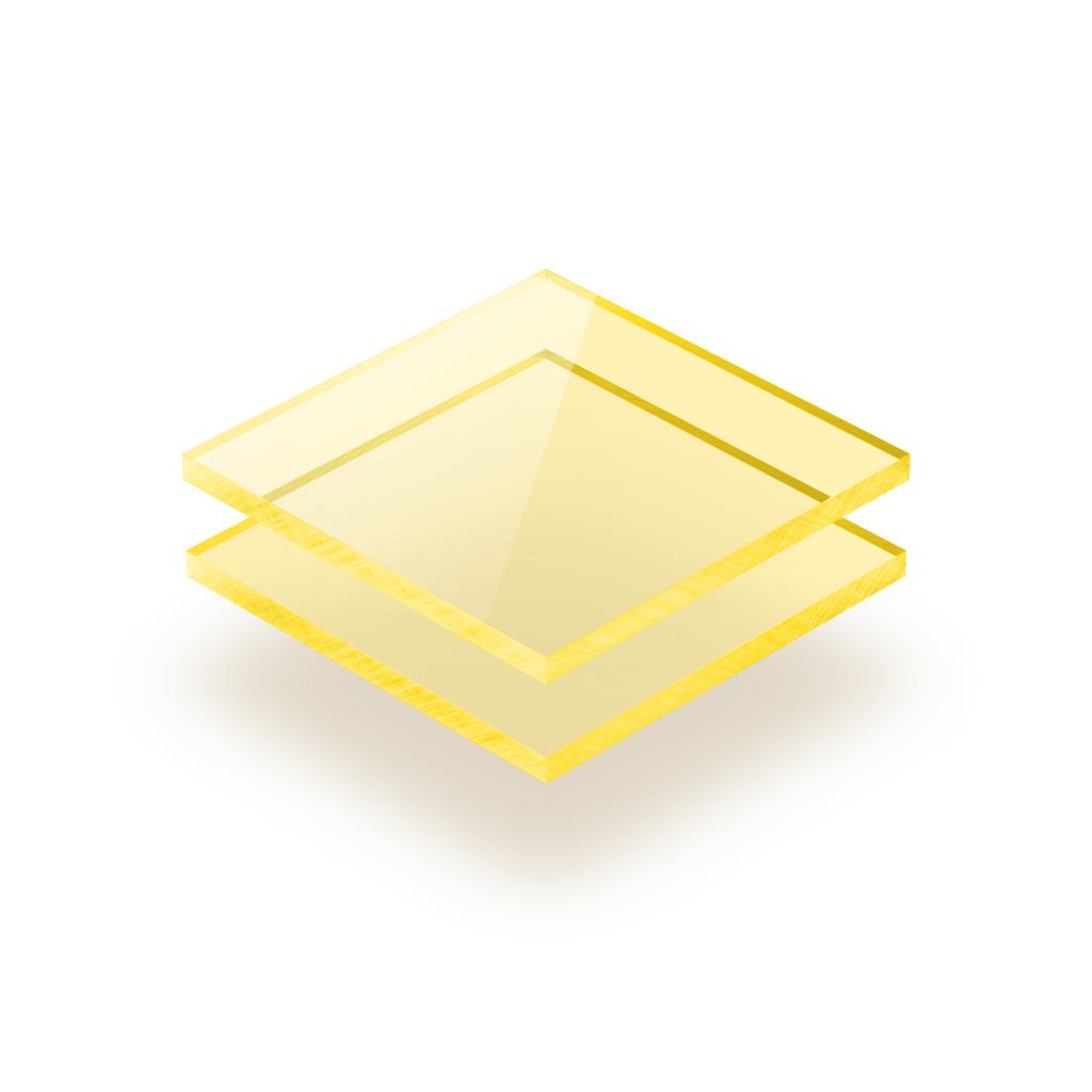 Plaque plexiglass jaune fluorescent