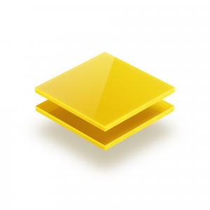Plaque plexiglass jaune opale 3mm