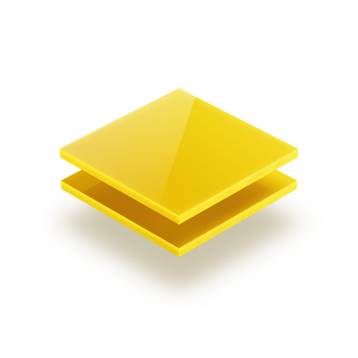 Plaque plexiglass jaune opale 3mm