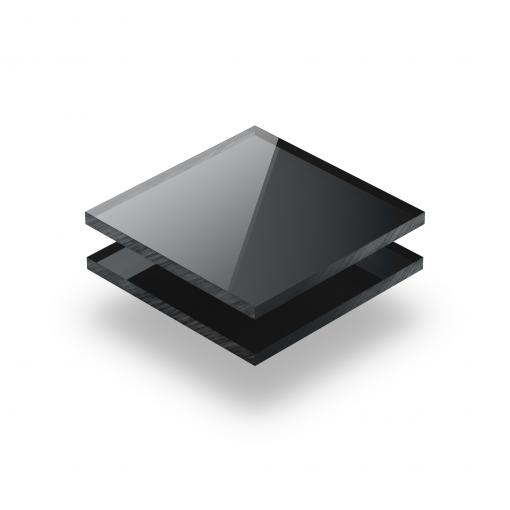 Plaque plexiglass miroir anthracite 3mm