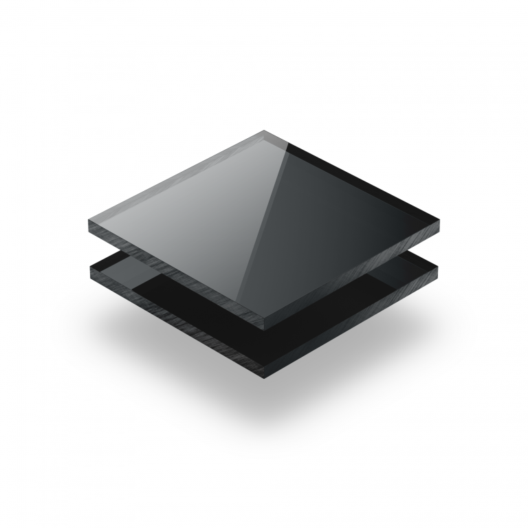 Plaque plexiglass miroir anthracite 3mm