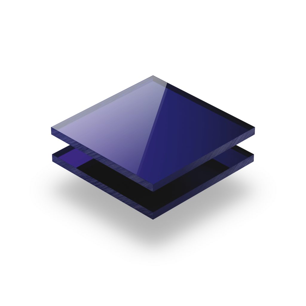 Plaque plexiglass miroir bleu 3mm