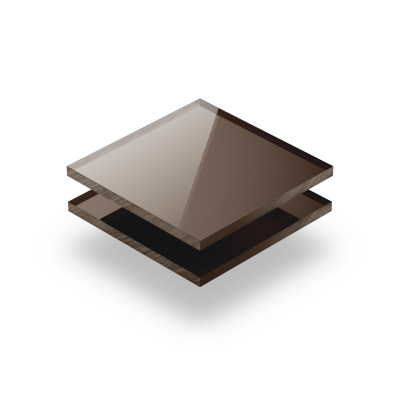 Plaque plexiglass miroir bronze 3mm