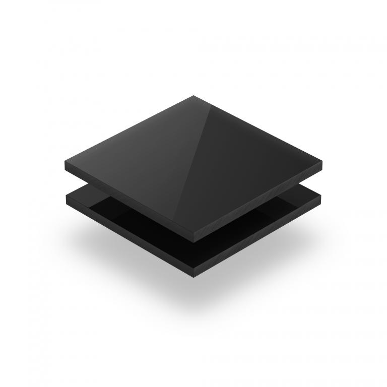 Plaque plexiglass noir