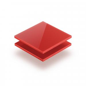 Plaque plexiglass rouge opale 3mm