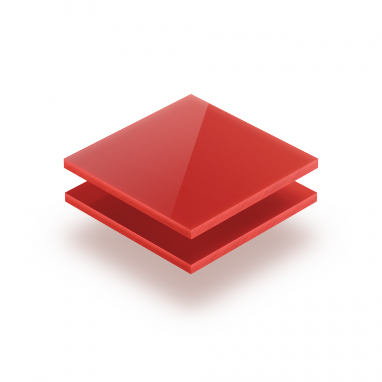 Plaque plexiglass rouge opale 3mm