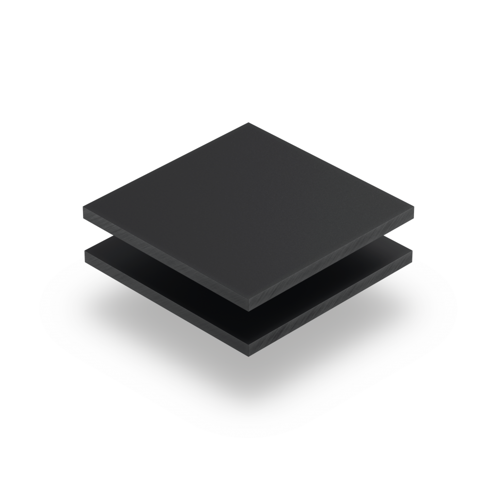 Plaque plexiglass satiné anthracite mat