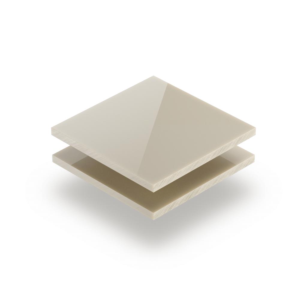 Plaque plexiglass satiné blanc crème brillant