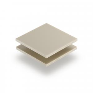 Plaque plexiglass satiné blanc crème mat