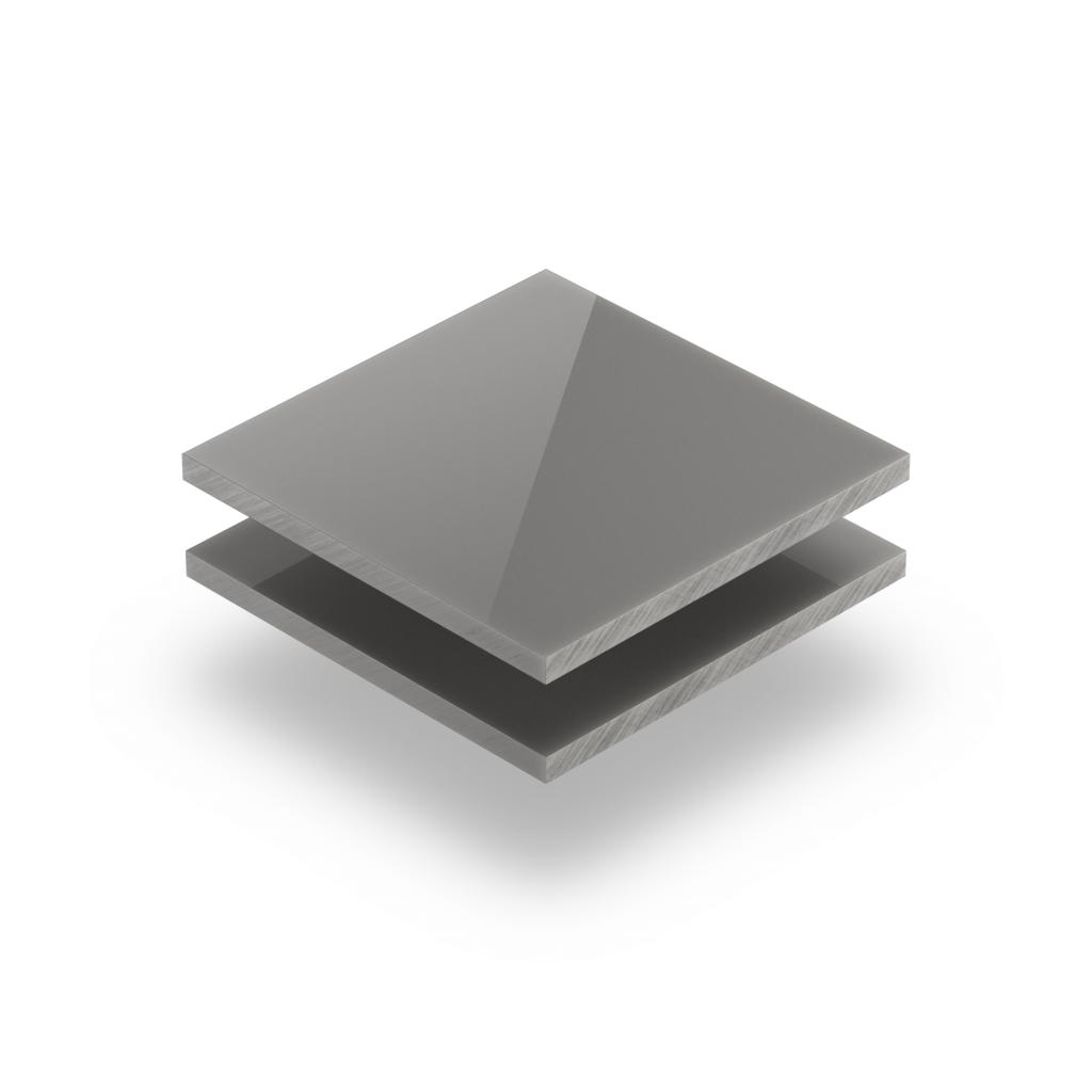 Plaque plexiglass satiné gris ciment brillant