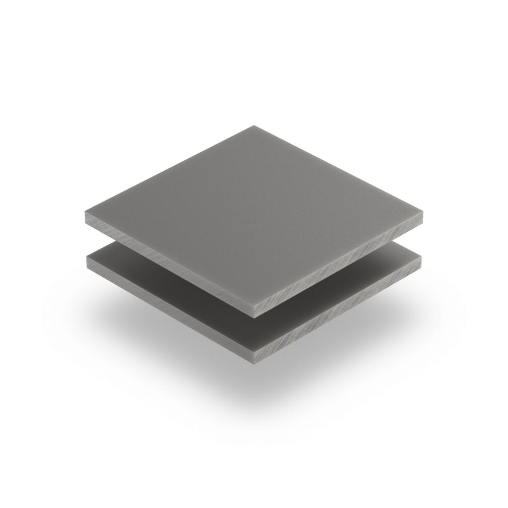 Plaque plexiglass satiné gris ciment mat