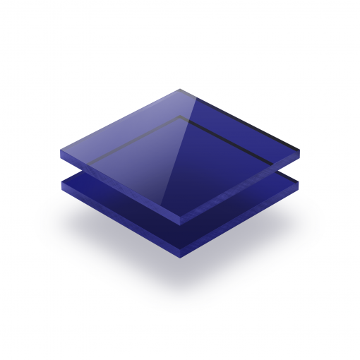 Plaque plexiglass teinté bleu 3mm