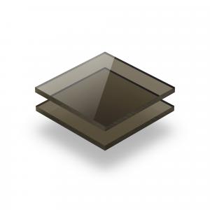 Plaque plexiglass teinté brun