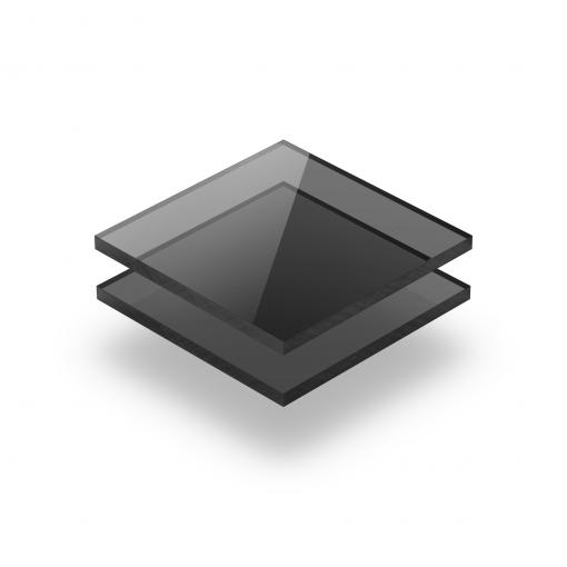 Plaque plexiglass teinté gris