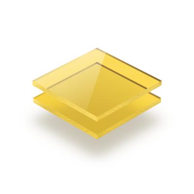 Plaque plexiglass teinté jaune 3mm