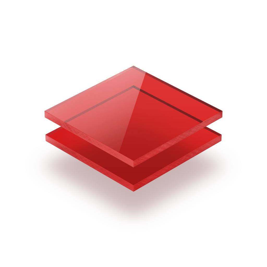 Plaque plexiglass teinté rouge 3mm