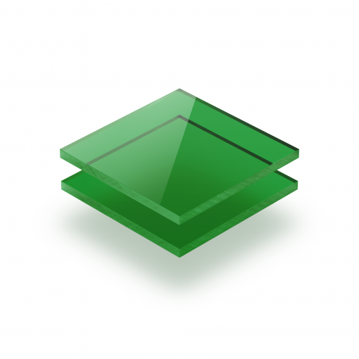 Plaque plexiglass teinté vert 3mm