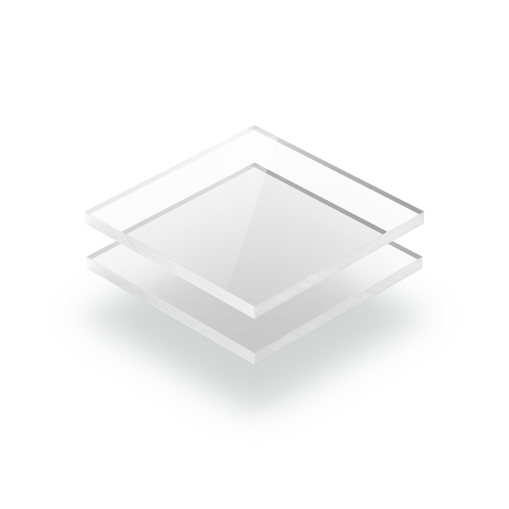 Plaque plexiglass transparent coulé
