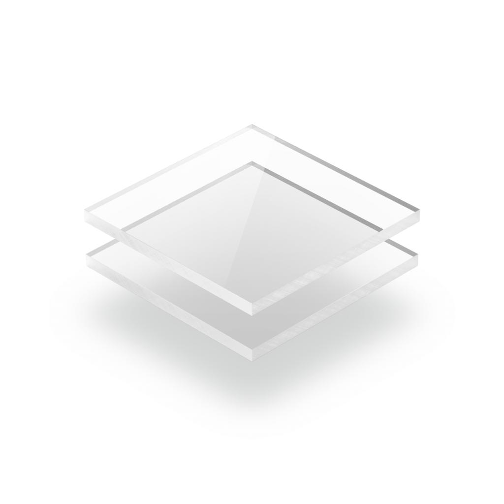 Plaque plexiglass transparent extrudé