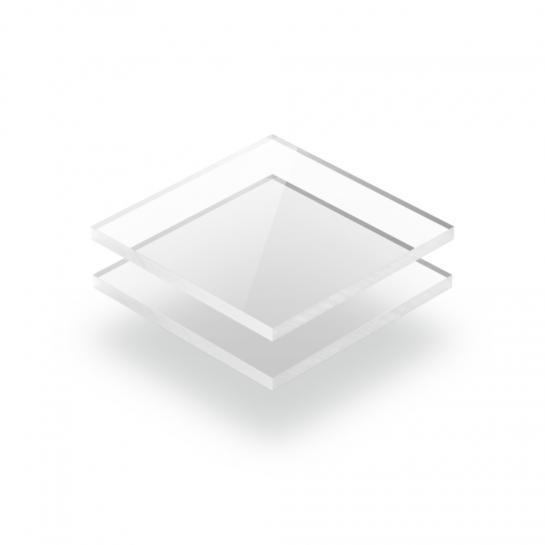 Plaque plexiglass transparent extrudé