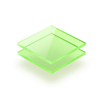Plaque plexiglass vert fluorescent