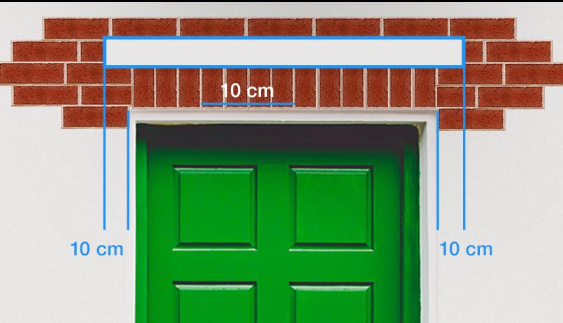 Fabriquer un auvent de porte - distances plaque murale