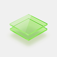 Plexiglass fluorescent