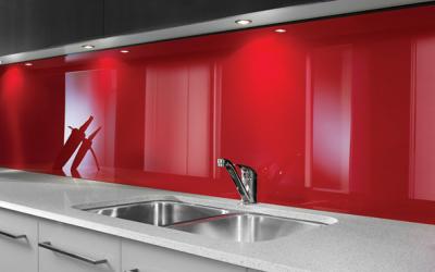 Crédence de cuisine en plexiglass