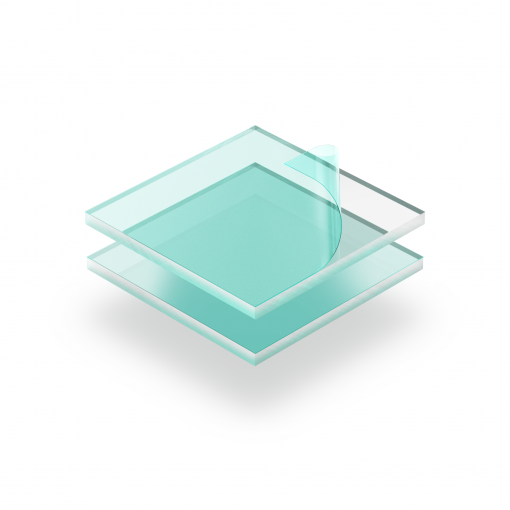 Plexiglass transparent avec film protecteur
