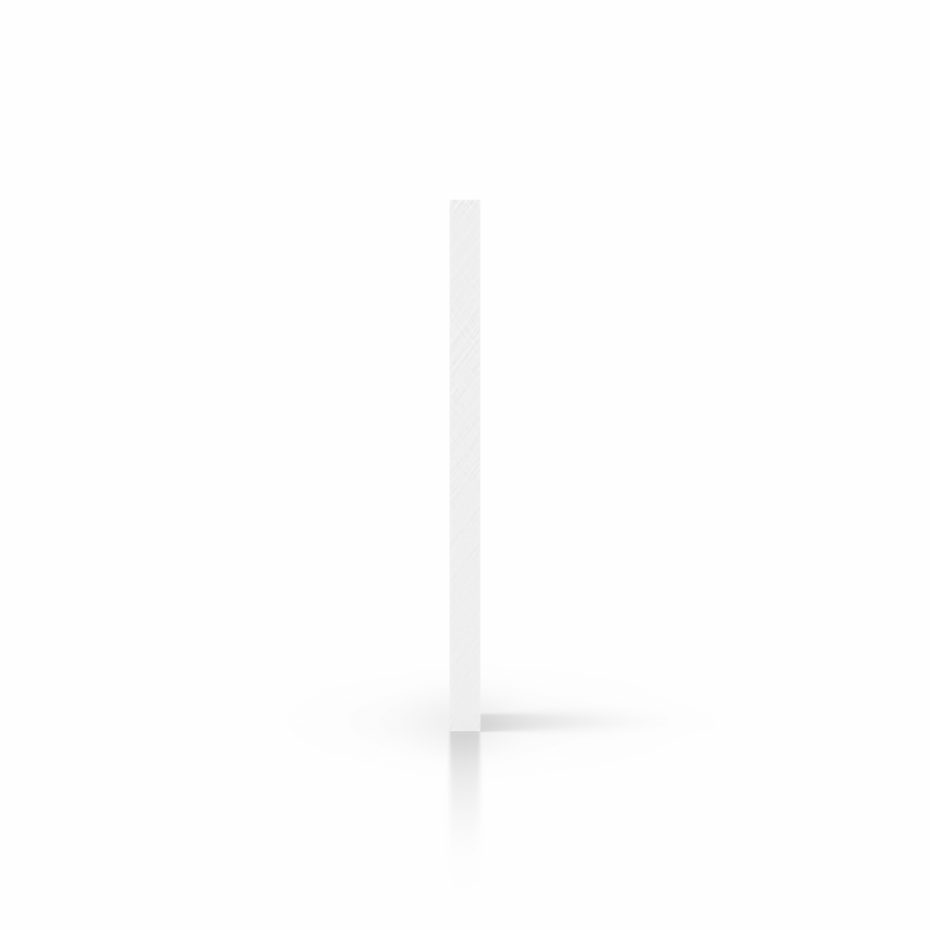 Cote plexiglass blanc opale