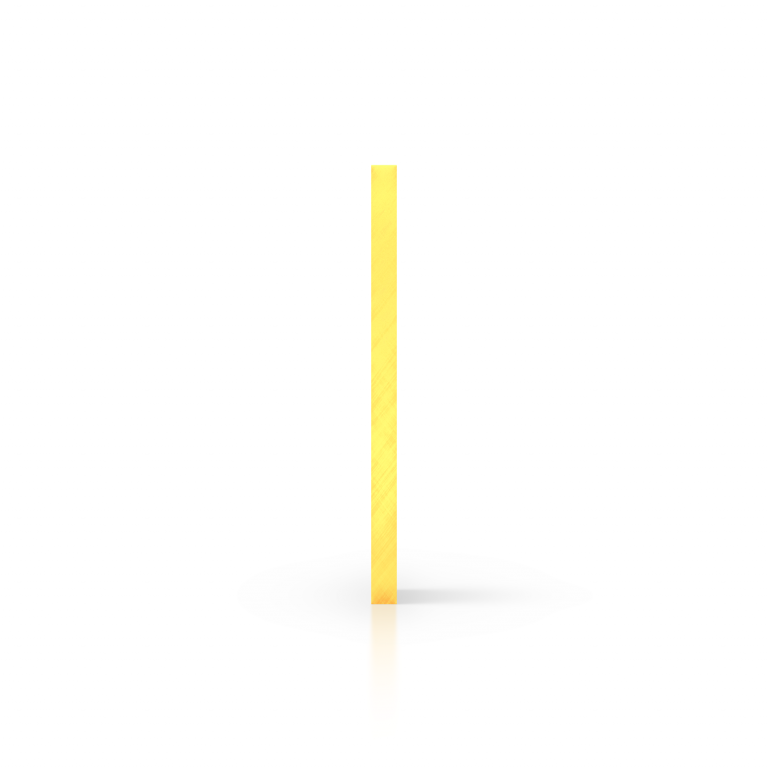 Cote plexiglass fluorescent jaune