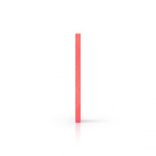 Cote plexiglass fluorescent rouge