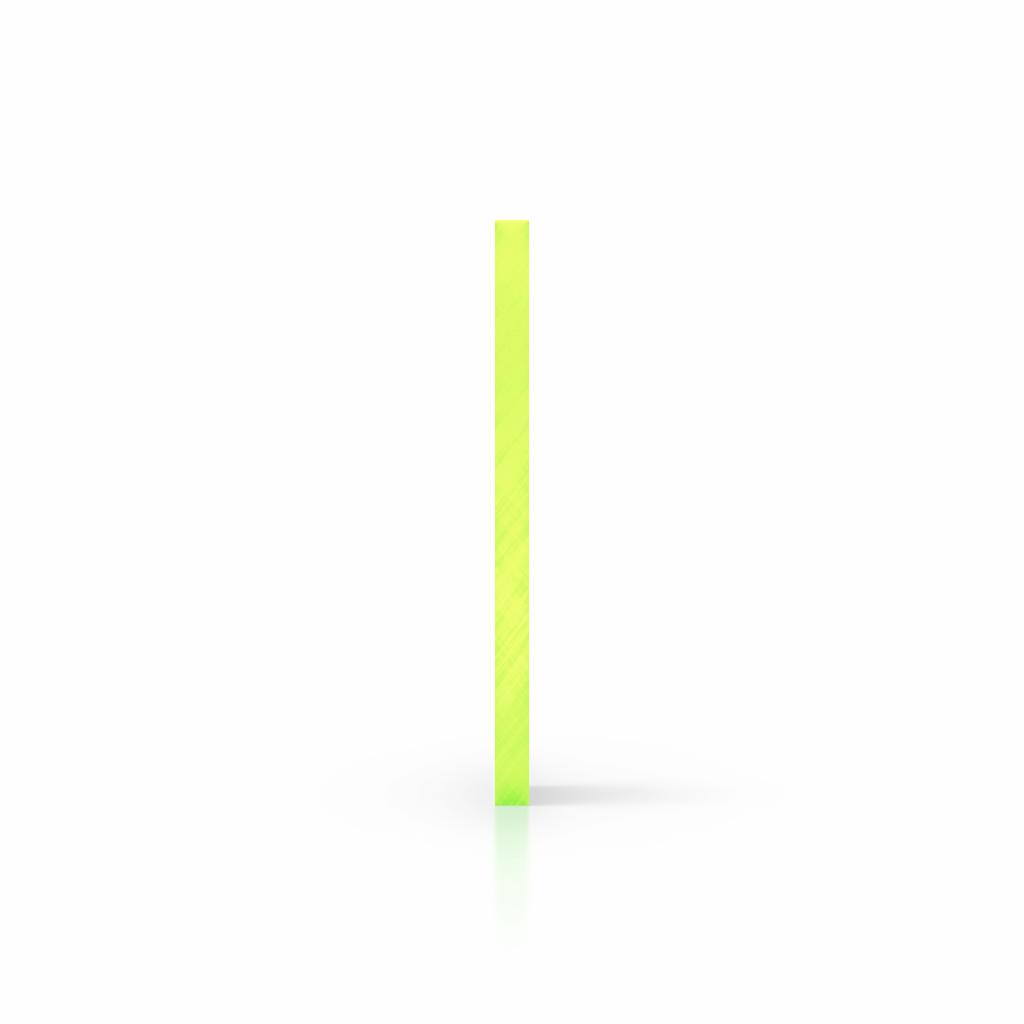 Cote plexiglass fluorescent vert