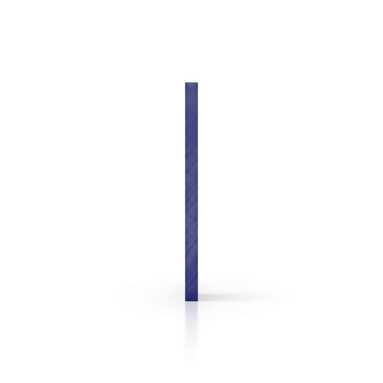 Cote plexiglass miroir bleu