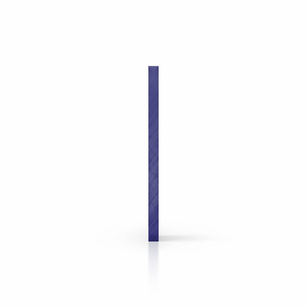 Cote plexiglass teinte bleu