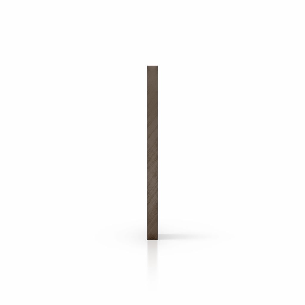 Cote plexiglass teinte brun