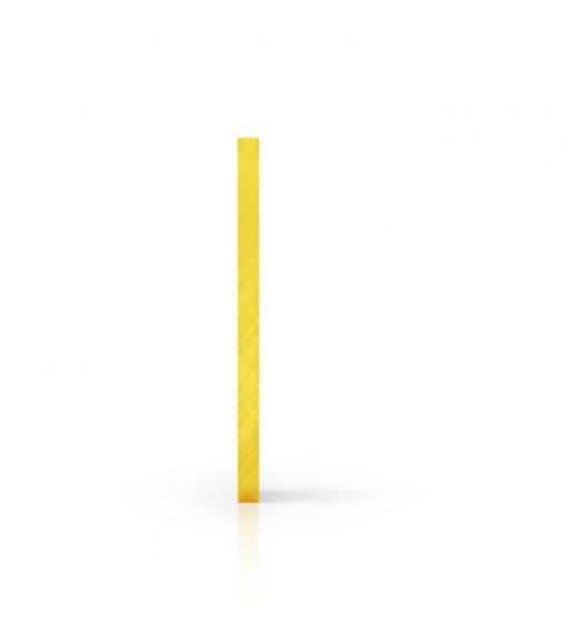 Cote plexiglass teinte jaune