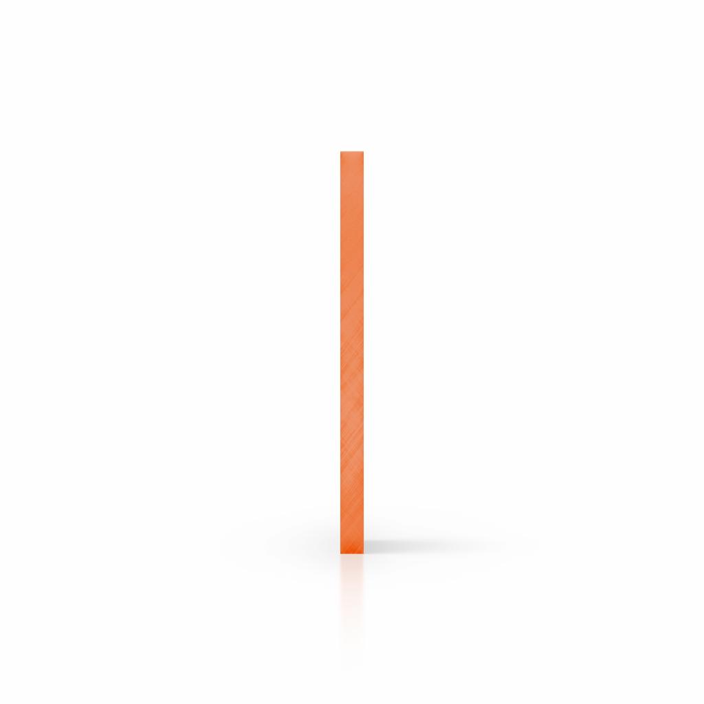 Cote plexiglass teinte orange