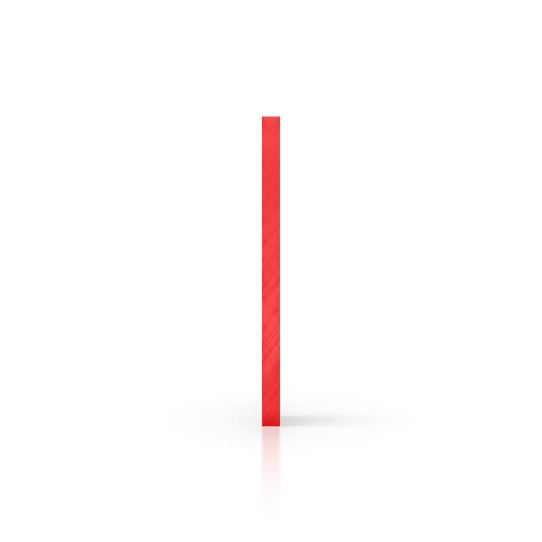 Cote plexiglass teinte rouge
