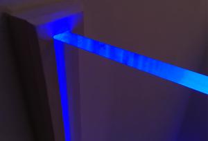 Edge-lit plexiglass