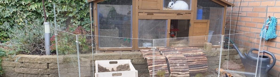 Clapier lapin extérieur banner