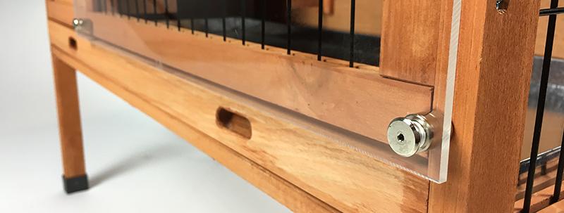 Créez une cage à lapin en plexiglass etape 2