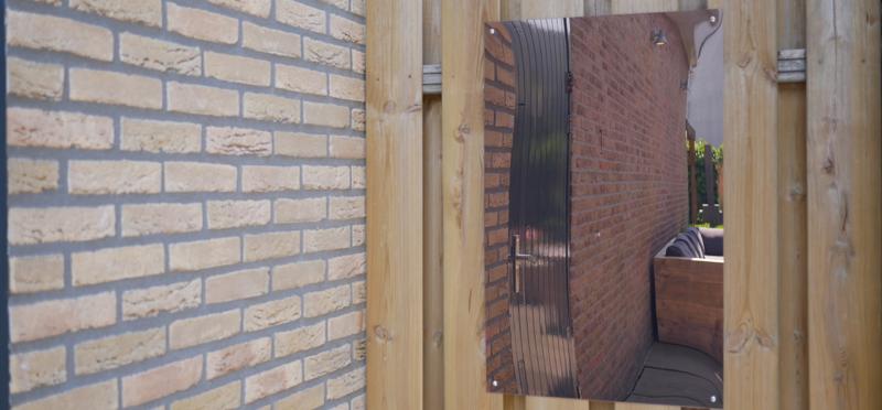Miroir de jardin en plexiglass etape 1