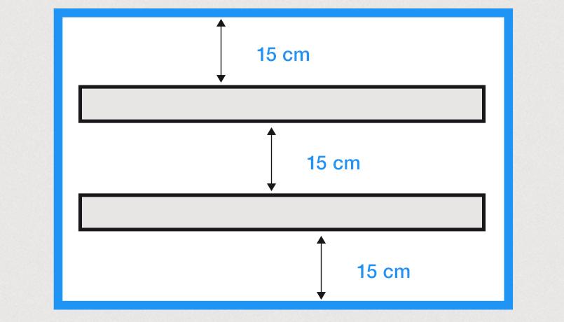Boite a lumiere positionnement des luminaires